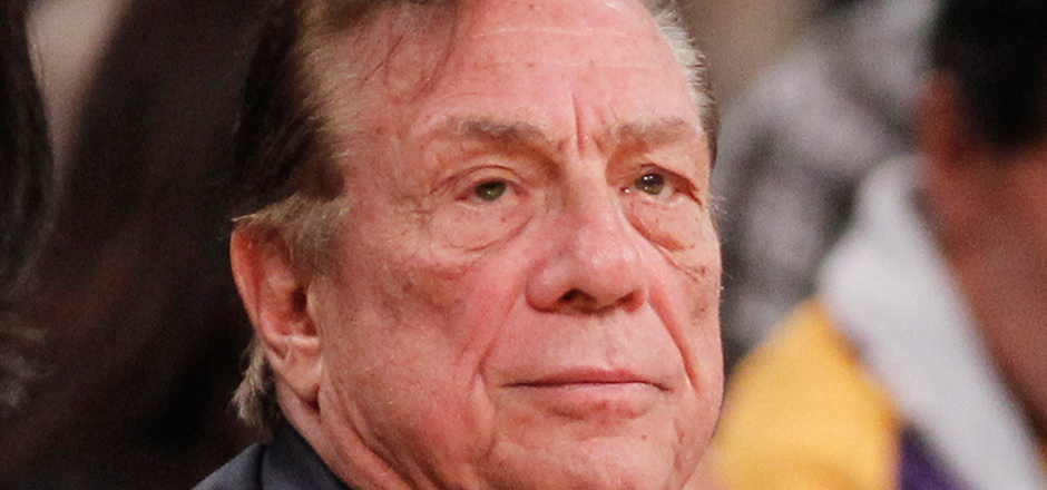 "Los Angeles Clippers owner Donald Sterling, center, and V. Stiviano, left, watch the Clippers play the Los Angeles Lakers during an NBA preseason basketball game in Los Angeles on Monday, Dec. 19, 2010. The NBA is investigating a report of an audio recording in which a man purported to be Sterling makes racist remarks while speaking to Stiviano. NBA spokesman Mike Bass said in a statement Saturday, April 26, 2014, that the league is in the process of authenticating the validity of the recording posted on TMZ's website. Bass called the comments ""disturbing and offensive."" (AP Photo/Danny Moloshok)"