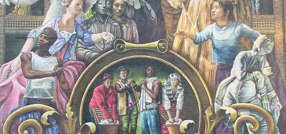 detail from mural