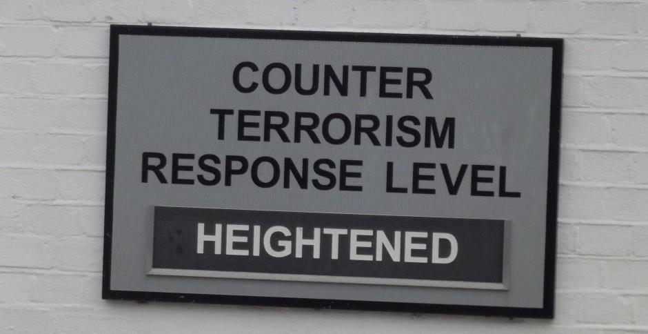 counter terror sign